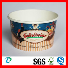 High quality disposable paper cup for ice cream