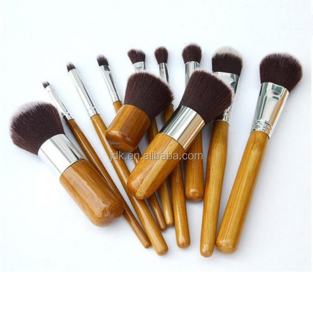 Cheap Competitive Make Up Cosmetic Bamboo Brush Set
