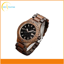 Manufacture customized hand made wood grain cheap wooden watch