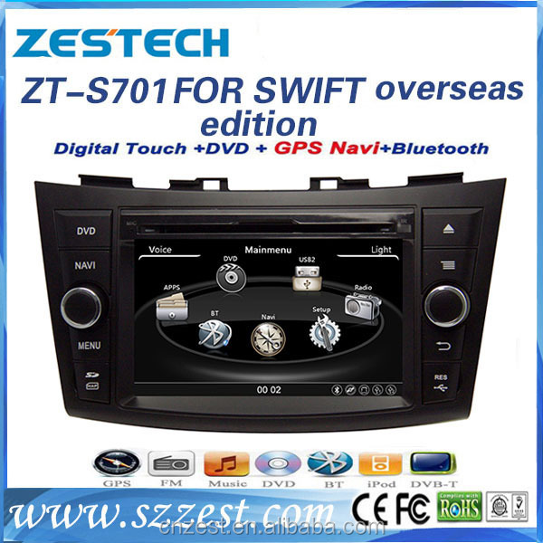 china factory Professional audio car audio dvd player for Suzuki SWIFT gps stereo multimedia