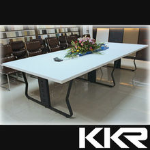Man made stone conference desk / large size solid surface meeting table