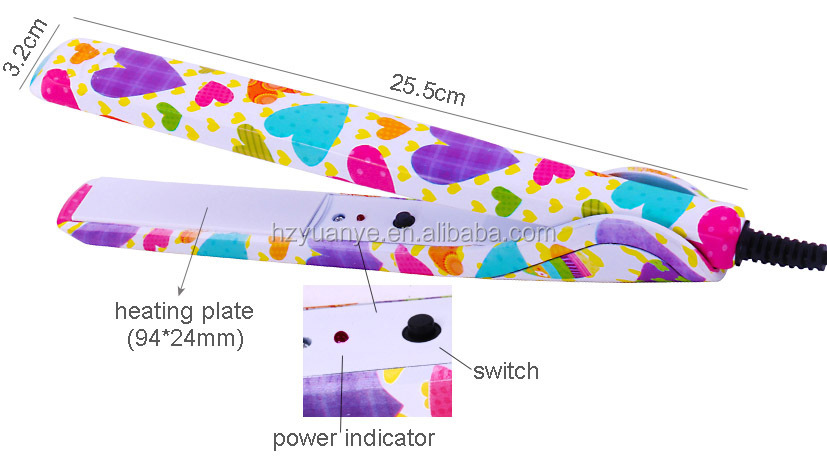 Colorful Promotional Electric ceramic Hair Straightener Hair Flat Iron