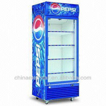 single door upright cooler with hinged door or sliding door avalibale