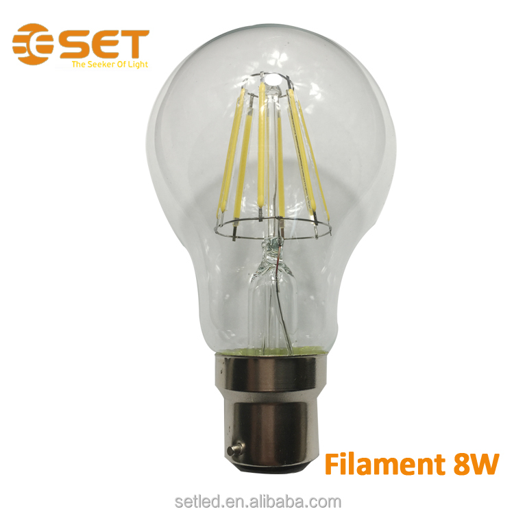 Promotion Warm White230V 360degree Glass A60 E27 6W Filament Lamp
