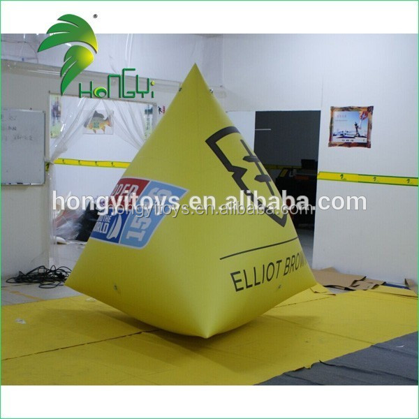 Durable Logo Printing Triangle Race Inflatable Water Promotion Event Floating Marker Buoy