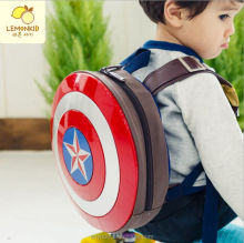 High quality cartoon circular shield backpack school bag