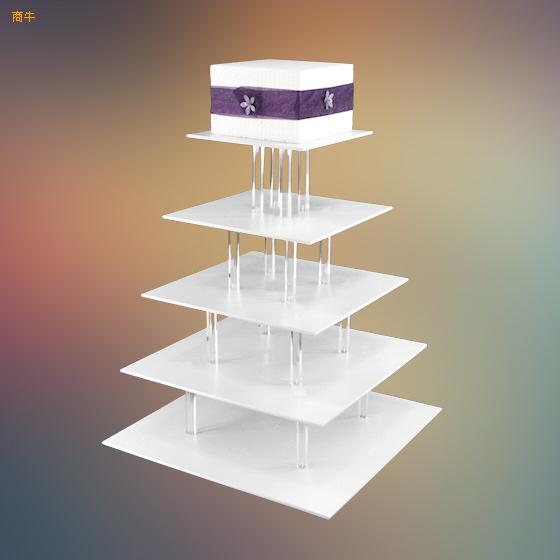 Clear 5 tiers acrylic cupcake stands/ color plexiglass wedding cake diplay stands/perspex cupcake stands
