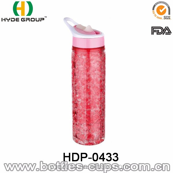 Wholesale Double Wall Gel Freezing Plastic Water Bottle