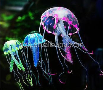 Wholesale Cheap price Fish jar decoration fish tank ligh Jellyfish fish Aquarium Decoration jellyfish Glowing Vivid Artificial