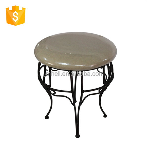 home decorative metal round shape dressing room stool
