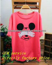 fashion women t shirt with Mickey made in china