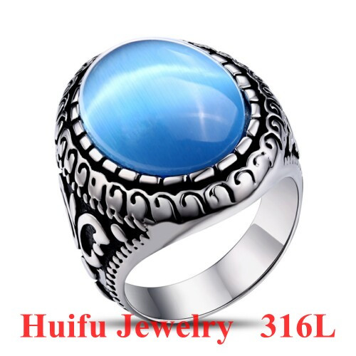2017 China factory direct sale gemstone ring custom stainless steel jewelry
