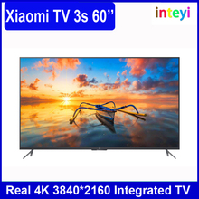 Newest Xiaomi TV 3S 60'' 4K Smart TV 60 inch Interface HD Screen Real 4K 3840*2160 Quad Core 1.8GHz Ultra HD Xiaomi MI TV 3s