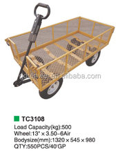 4 wheel mesh garden small folding cart