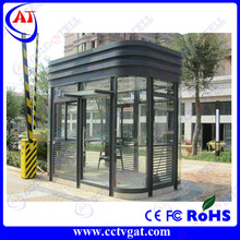 Outdoor Stainless Steel Prefabricated security kiosk,ticket booth,smoking booth