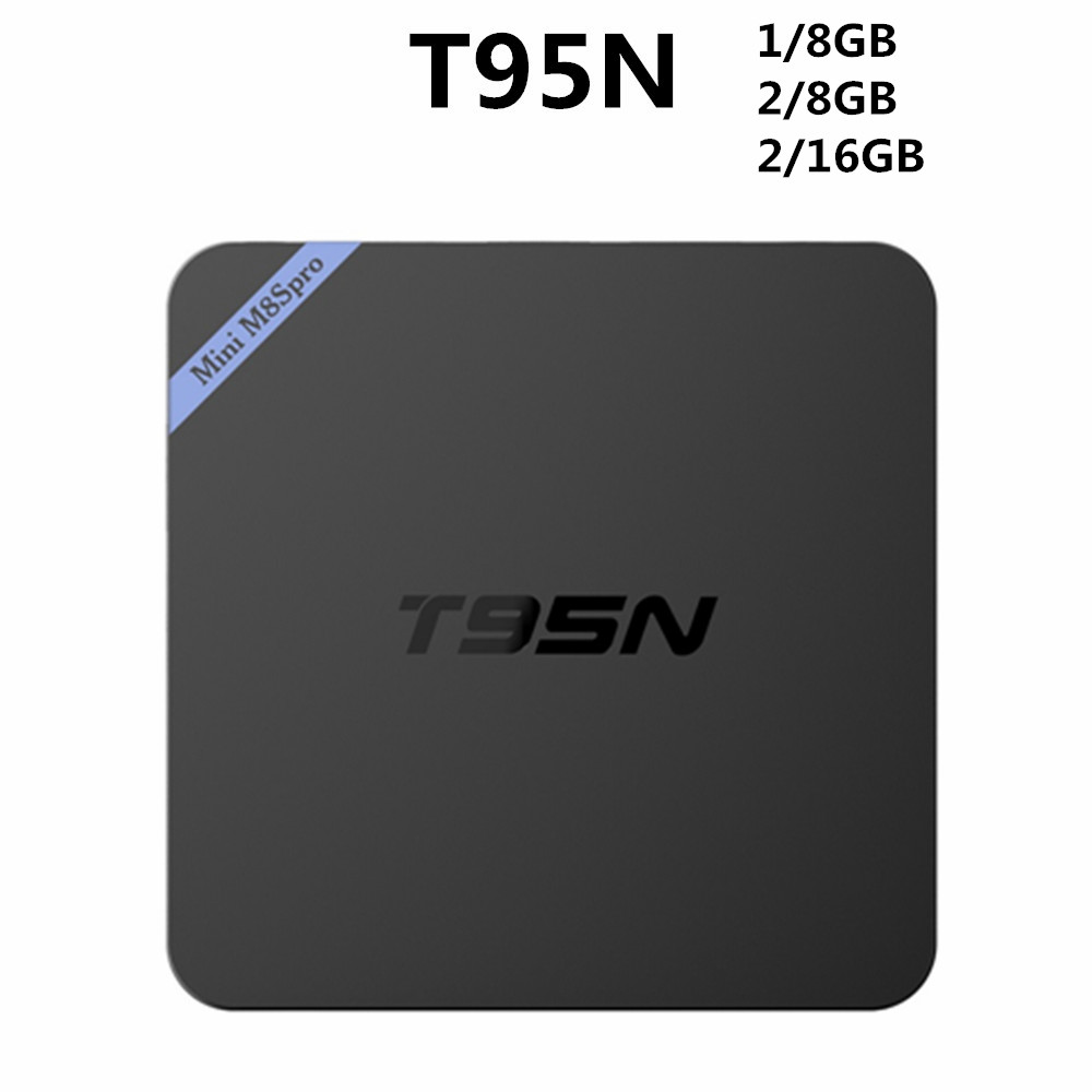 New arrival smart tv box metal case T95N S905 ott remote control android tv box Set top box