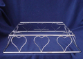 Square Large Heart Cake Base Stands(FD-U606)