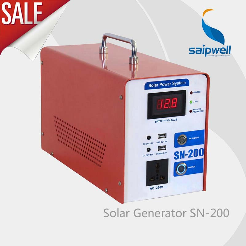 2014 Hot Sale High Quality small solar power generator,solar electric/protable solar generator with 200W and 360mm*150mm*210mm