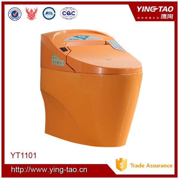 chaozhou ceramic toilet vacuum flushing orange toilet for sales