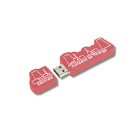 simple and cheap slogan shape usb flash drive hot sell for Personal Tailor