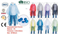 disposable poncho raincoat Raincoat/LDPE Material and Raincoats,Pe Poncho in ball Type poncho in wheels with chain