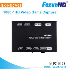 HDMI to USB game capture box H.264 encoder,full HD 1080P with the Lag-free HDMI passthrough