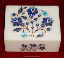 Beautiful Lapis Lazuli Marble Inlay Decorative Box