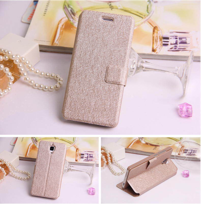 clamshell mobile phone k-cool leather case for xiaomi m2 case