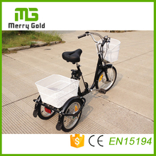 24inch brushless motor small cargo three wheels electric tricycle