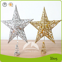 2016 Metal Christmas Tree ornament Top wire Star