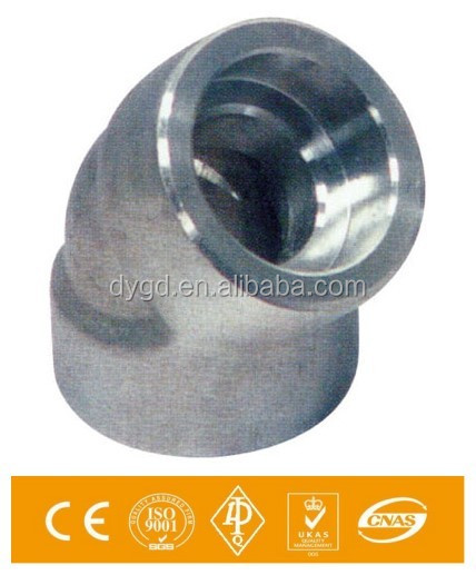 SA 182 F304/316 3000Lbs 45 D 2 InchThreaded Elbow Pipe Fittings