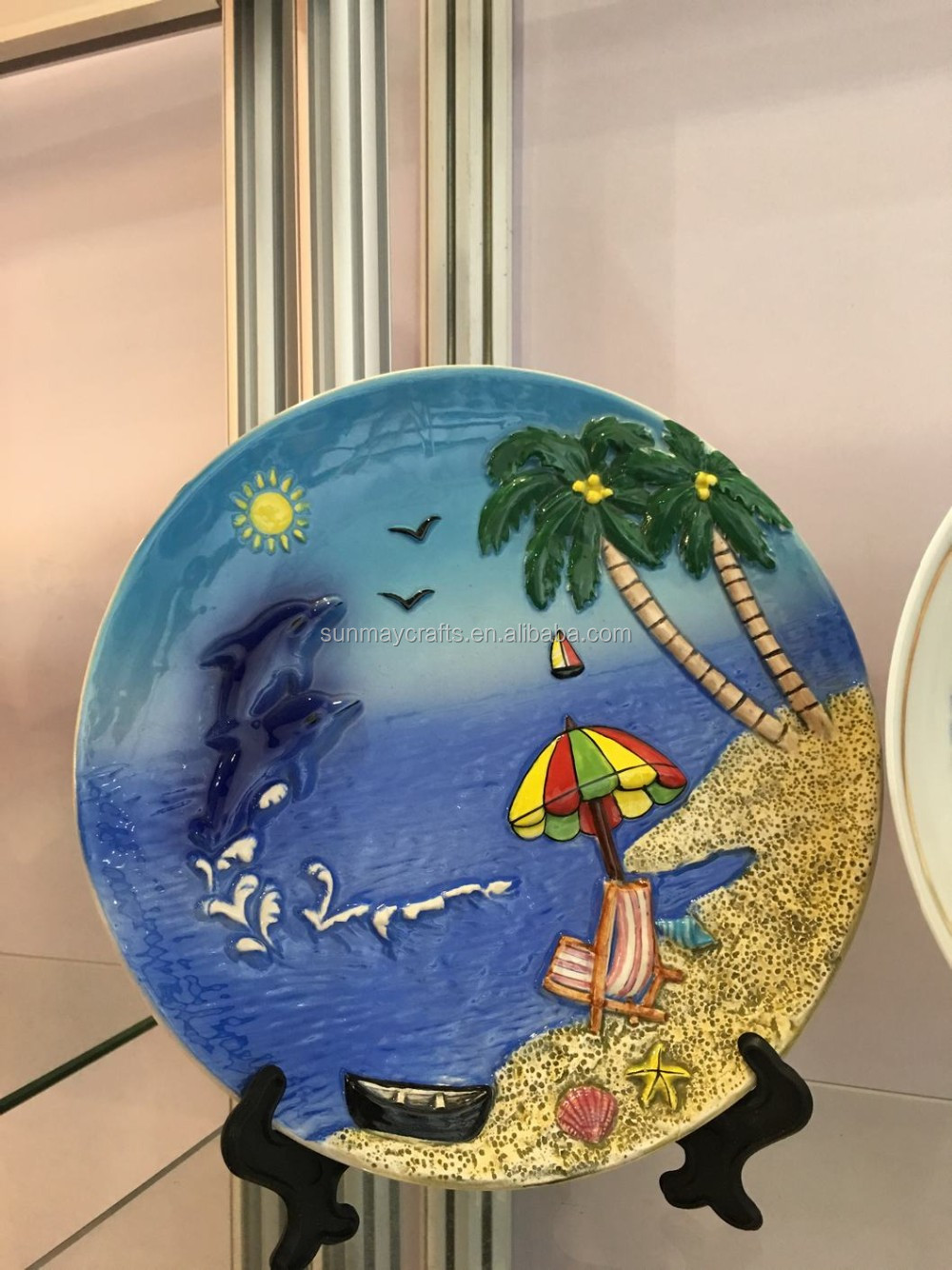 3D landscape ceramic plate for souvenir gifts