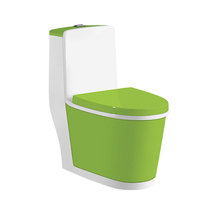 Sanitary One Piece Decoration Light Green Toilet