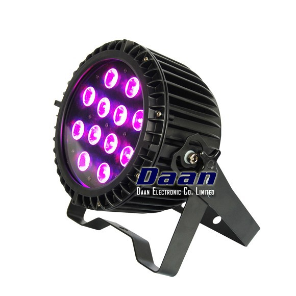 12pcs 12w Outdoor par led, led par 64 rgbwa uv, dmx stage lighting