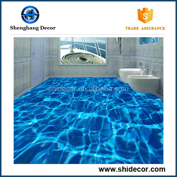 Modern design cheap 3d blue bathroom floor tile 3d ceramic tiles