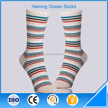 Fine mix streak knitted cotton tube women socks