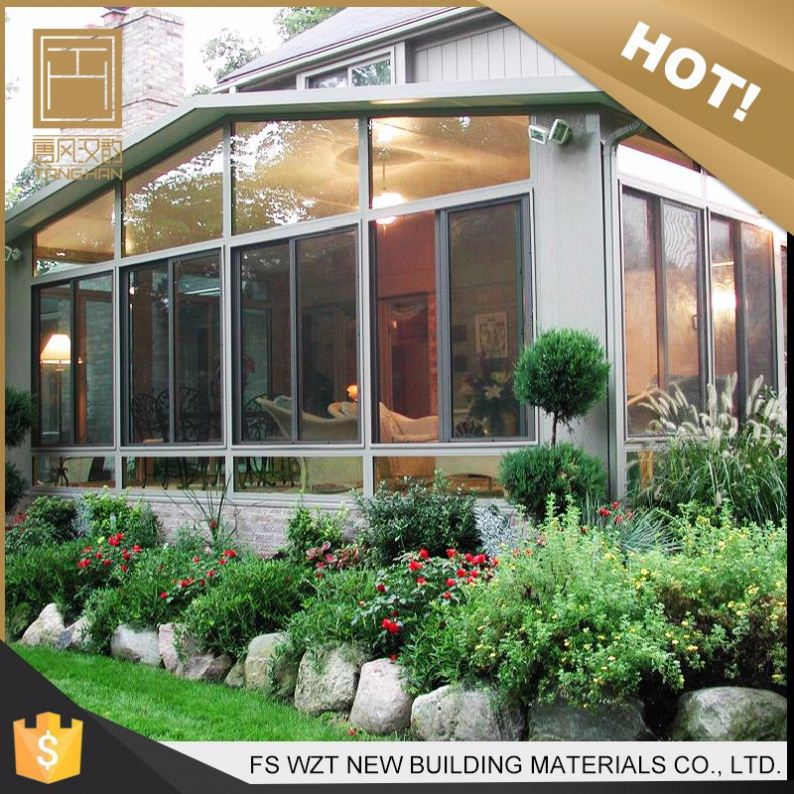 Alibaba factory housing tempered glass roof aluminum sun room/ sunroom / glass house