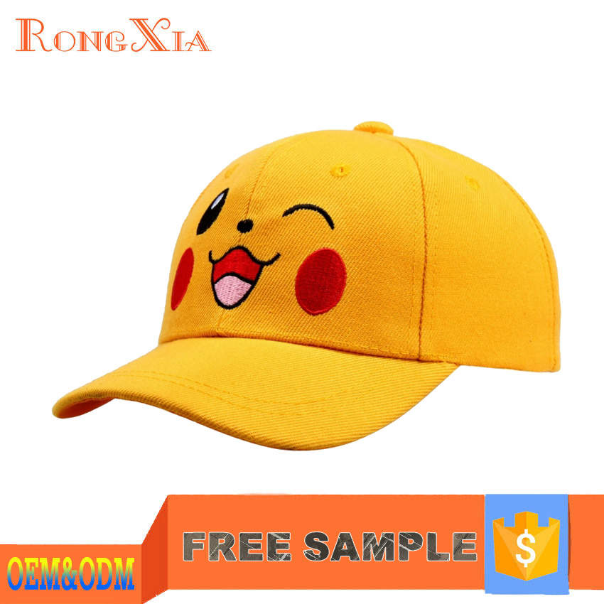Flat Embroidery Pokemon Stylist Cap Wholesale