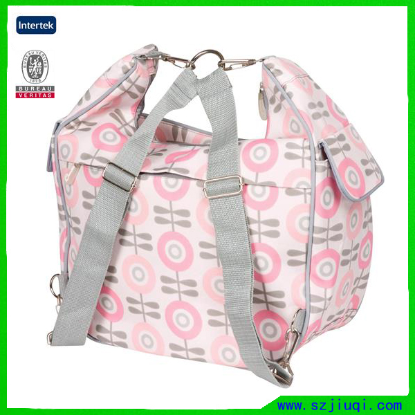Fashion custom pink messenger hobo handbag tote diaper bag