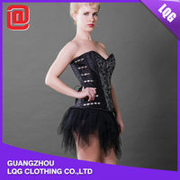 Sexy adjustable polyester women back support corset