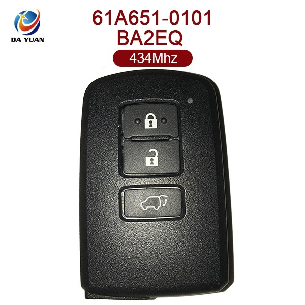 AK007087 Top quality for Toyota 3buttons car remote 61A651 0101 434MHZ 8A Chip BA2EQ