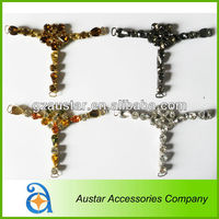 New design! multicolor crystal rhinestone multiple strass ladies shoe adornments AE-827