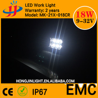 High waterproof EMC 18w crees led light bar led work light in china keep you safe on the way