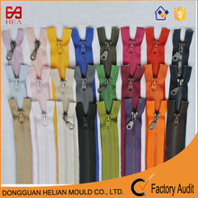 Fashion #5 auto lock closed end plastic zips with vislon teeth strong tent zipper