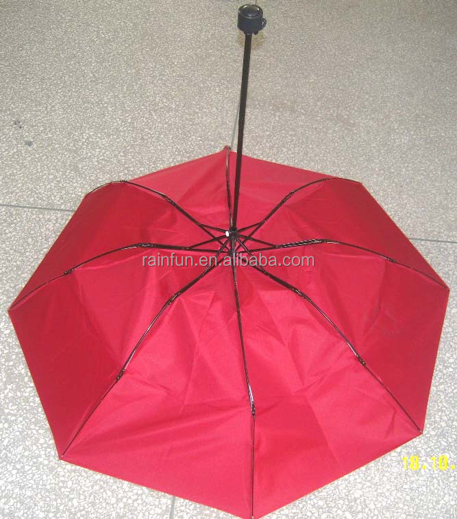 Fold up umbrellas windproof safety protection 3 folding umbrella
