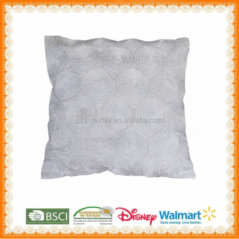 rabbit real fur floor cushion