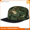Camo blank 5 panel snapback hat/ camo flat brim caps and hats