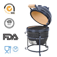 13 Inches Mini Outdoor Cooking Barbecue Equipment Helmet BBQ Grill
