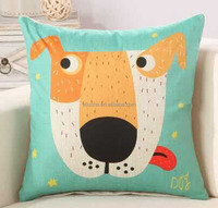 latest design animal dogs prints fancy kids home plain square linen cushion cover