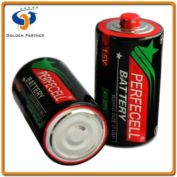 Reliable and professional r20 d size red cap carbon zinc dry batteries agents